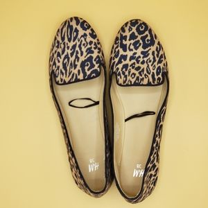 😍H&M Leapord Print Flats size 38 IS 7